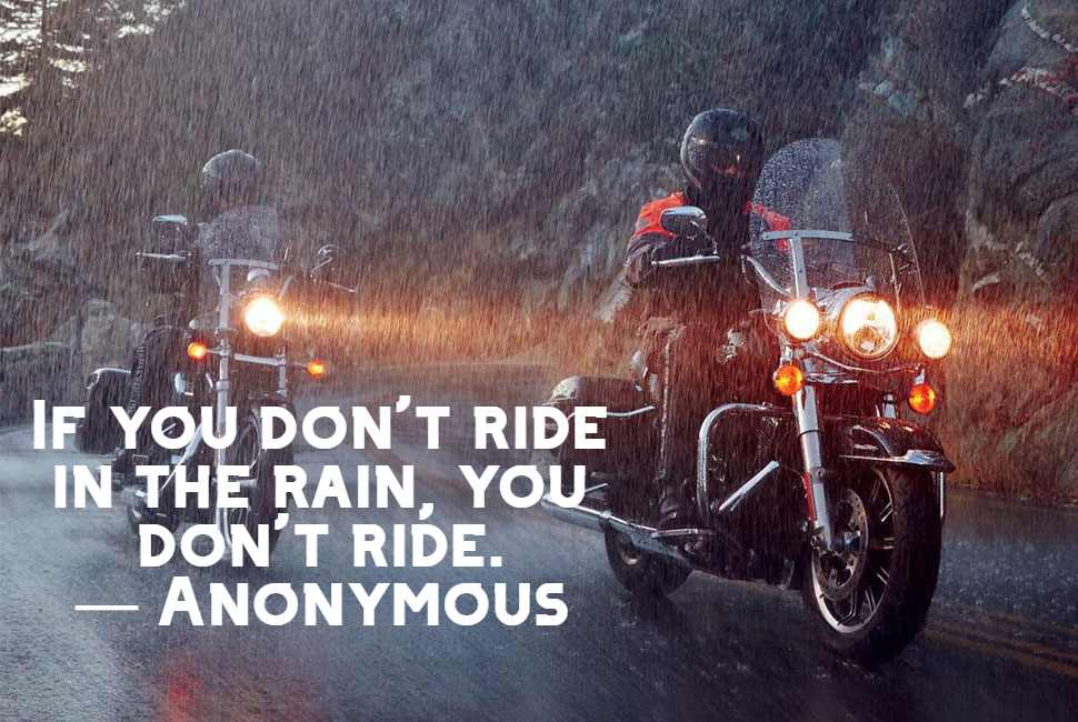 bike caption in the rain