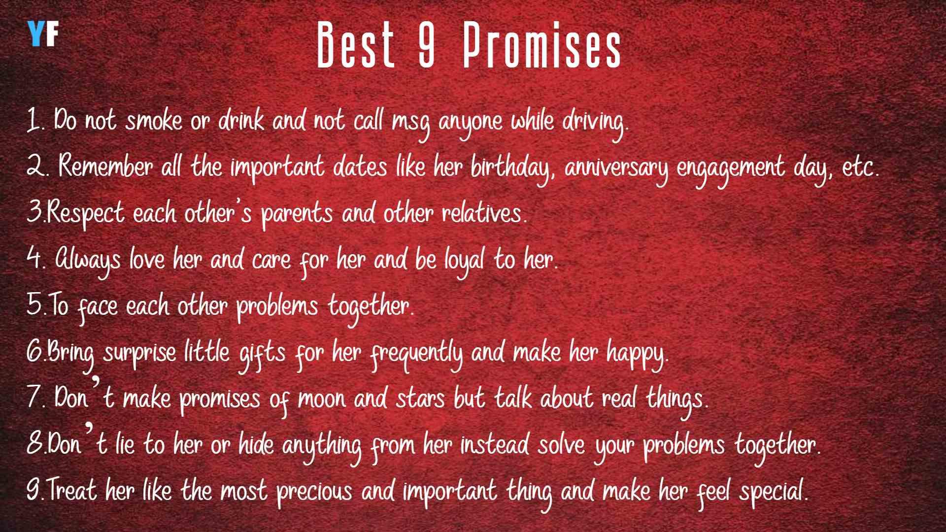 Best Promises For Girlfriend