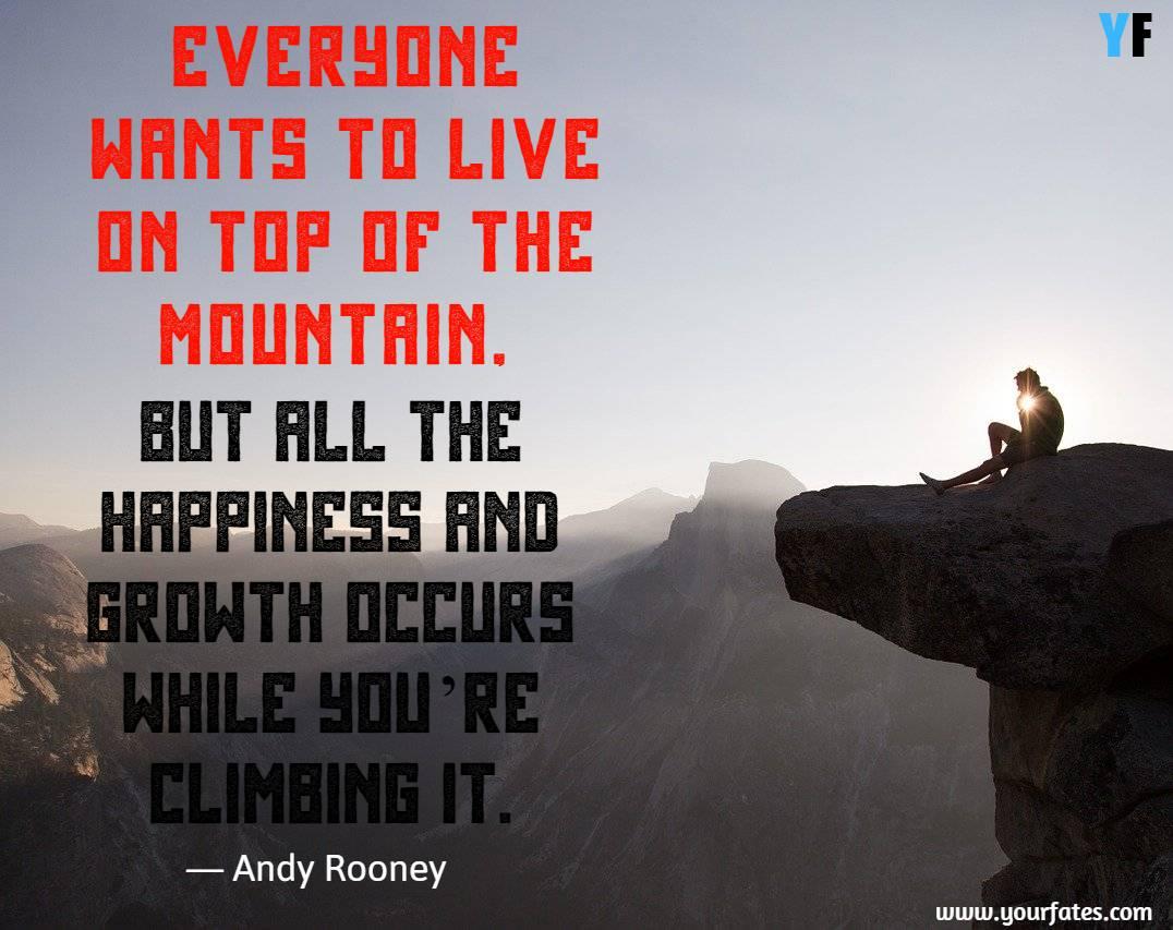 Mountain saying