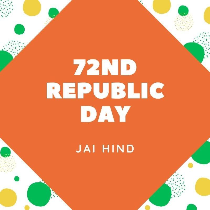 72nd republic Day Image