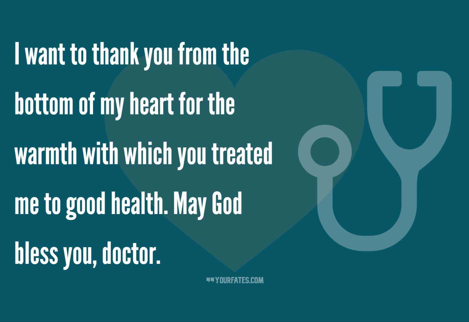 Thank you Doctor wishes