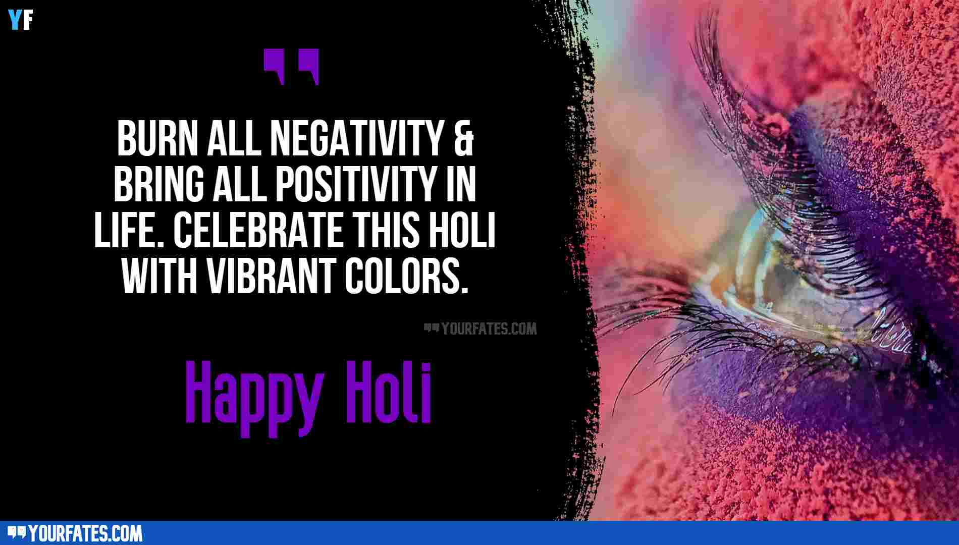 Happy holi in english