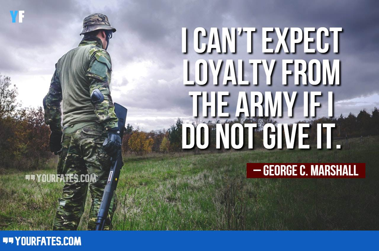 Loyalty Quotes for Army