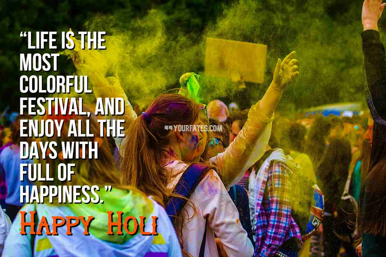 holi message in english
