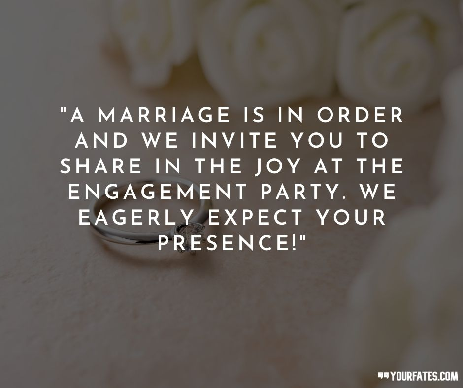 Engagement Invitation Messages