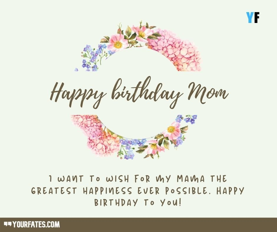 Birthday messages for Mom
