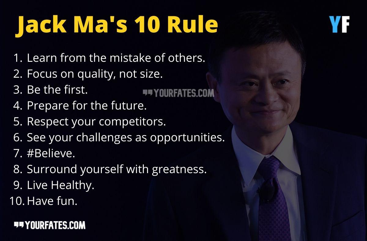 Jack Ma 10 rules