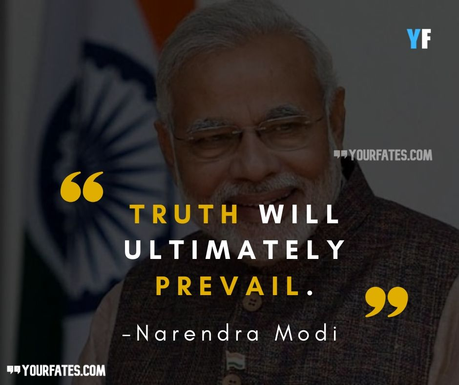 Narendra Modi quotes about truth