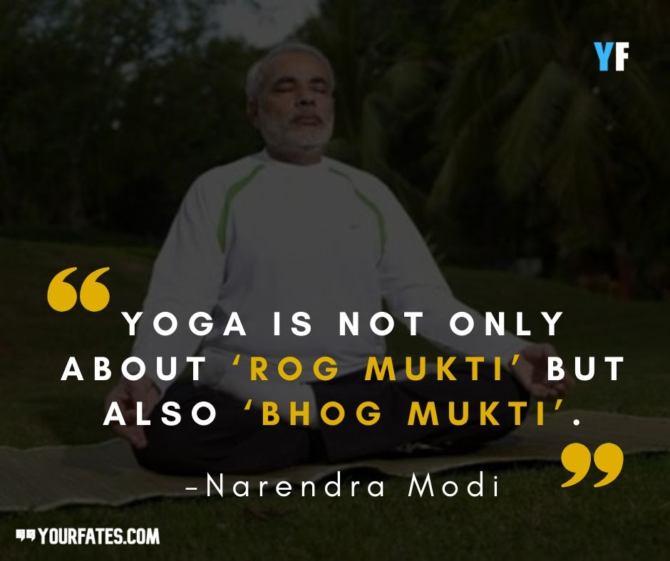 yoga quotes by Narendra Modi Quotes