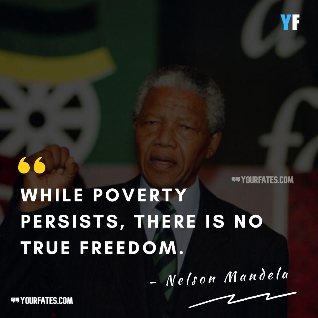 Poverty Quotes Nelson Mandela