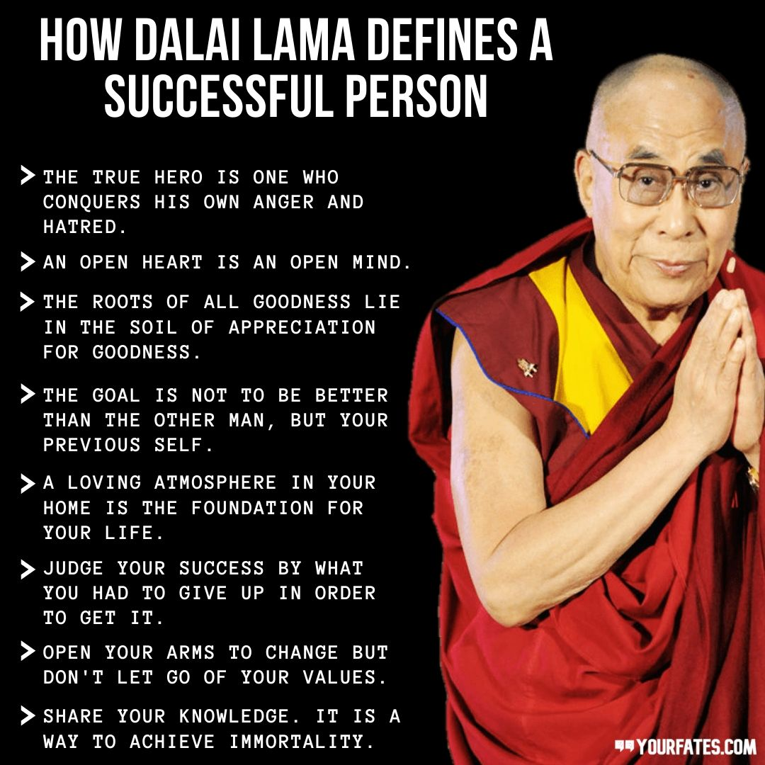 how Dalai Lama DEfines A Successful Person