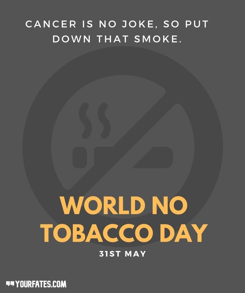 world no tobacco day messages