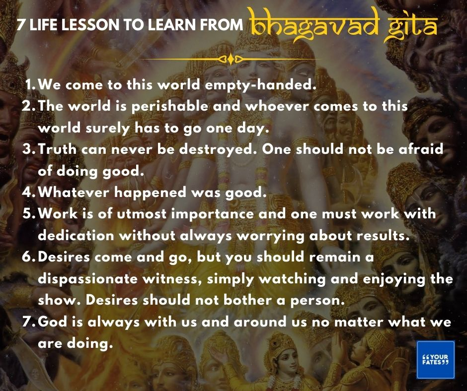Life Lesson to learn from Bhagavad Gita