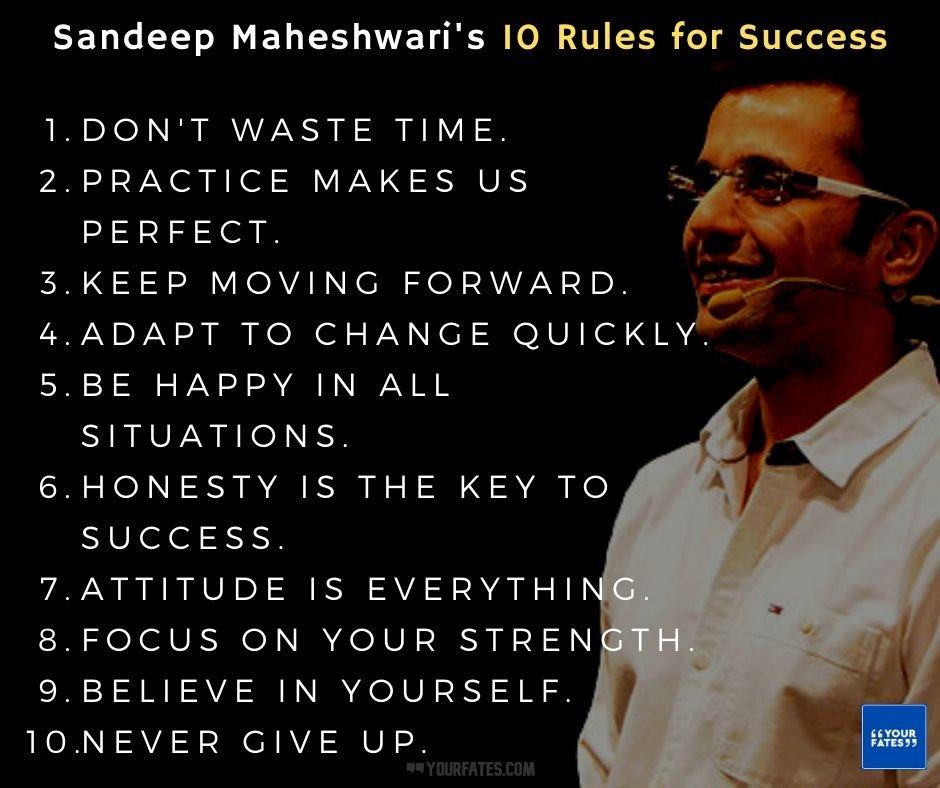 Sandeep Maheshwari's 10 Rules for Succes