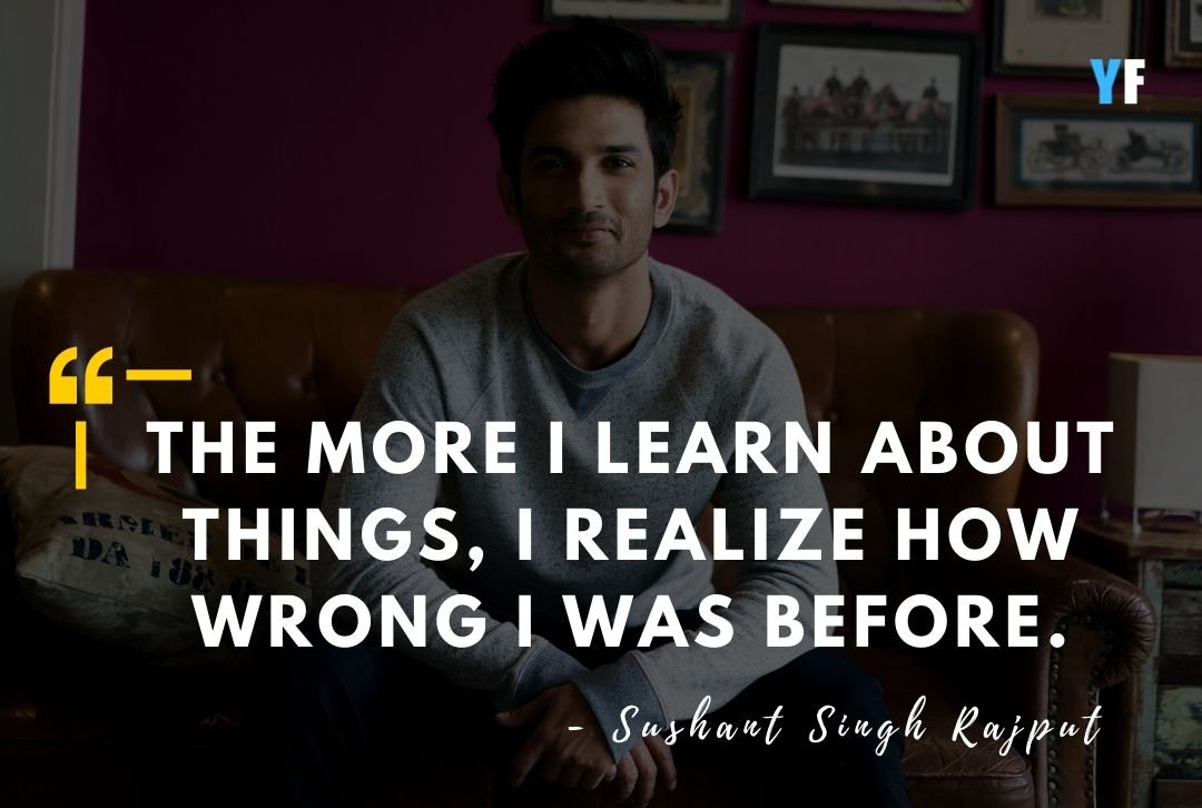 21 Sushant Singh Rajput Quotes That Will Always Remembered