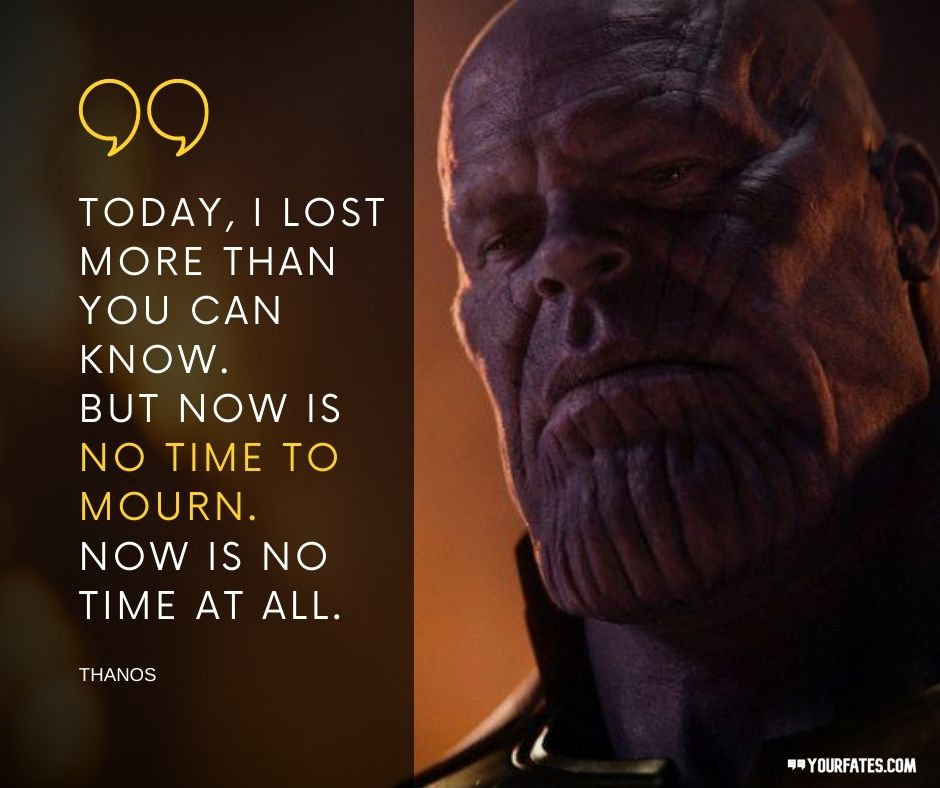 quotes about thanos