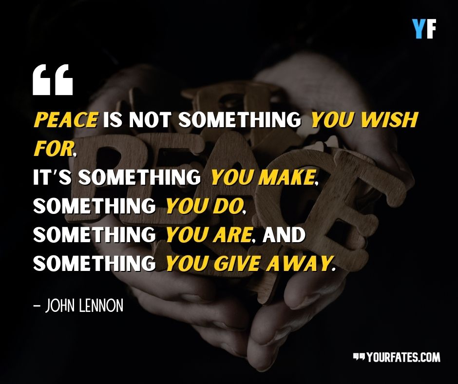 John Lennon Quotes on peace