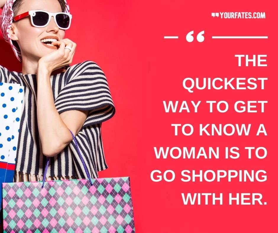 girl shopping quotes
