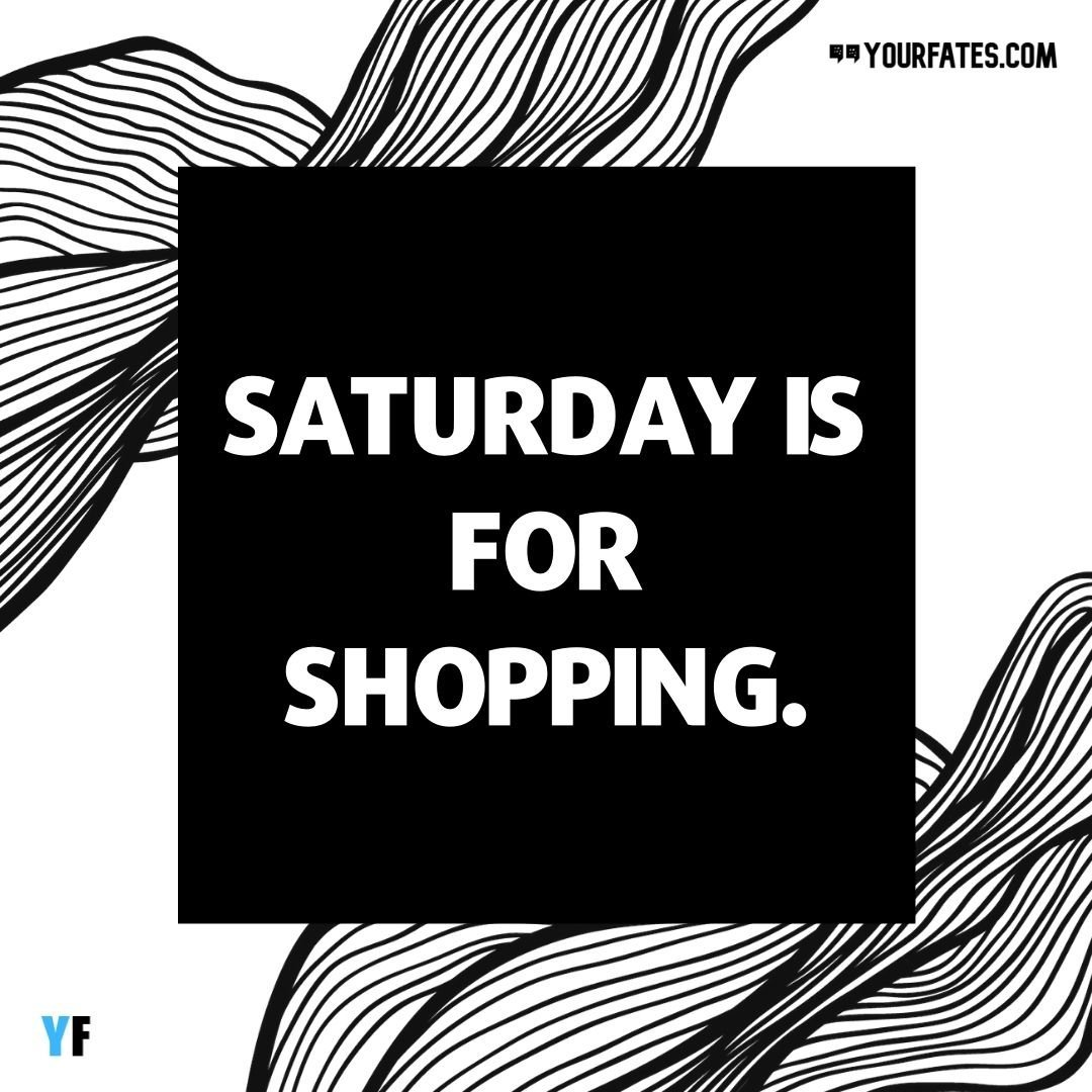 Shopping quotes caption