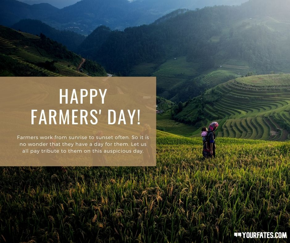 happy Farmers day wishes