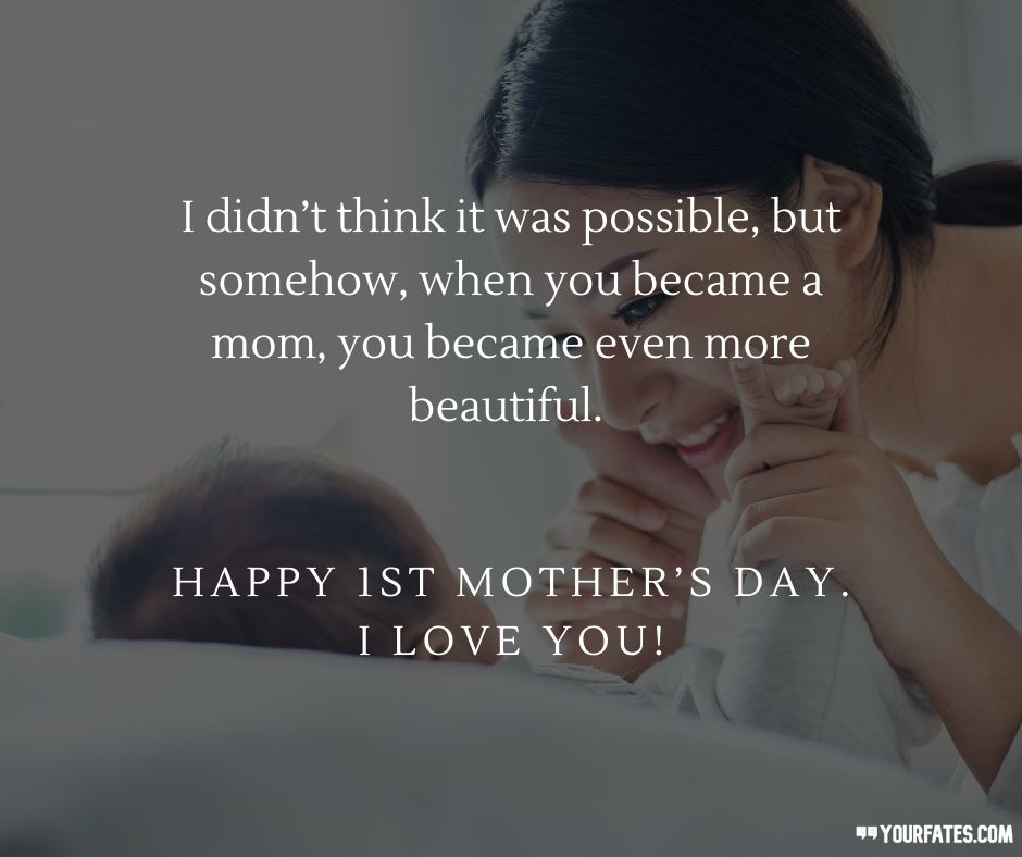 first mother's day messages