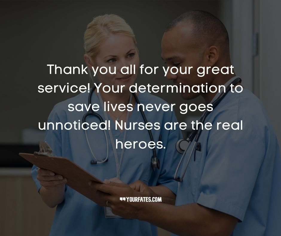 Thank you messages for Nurses