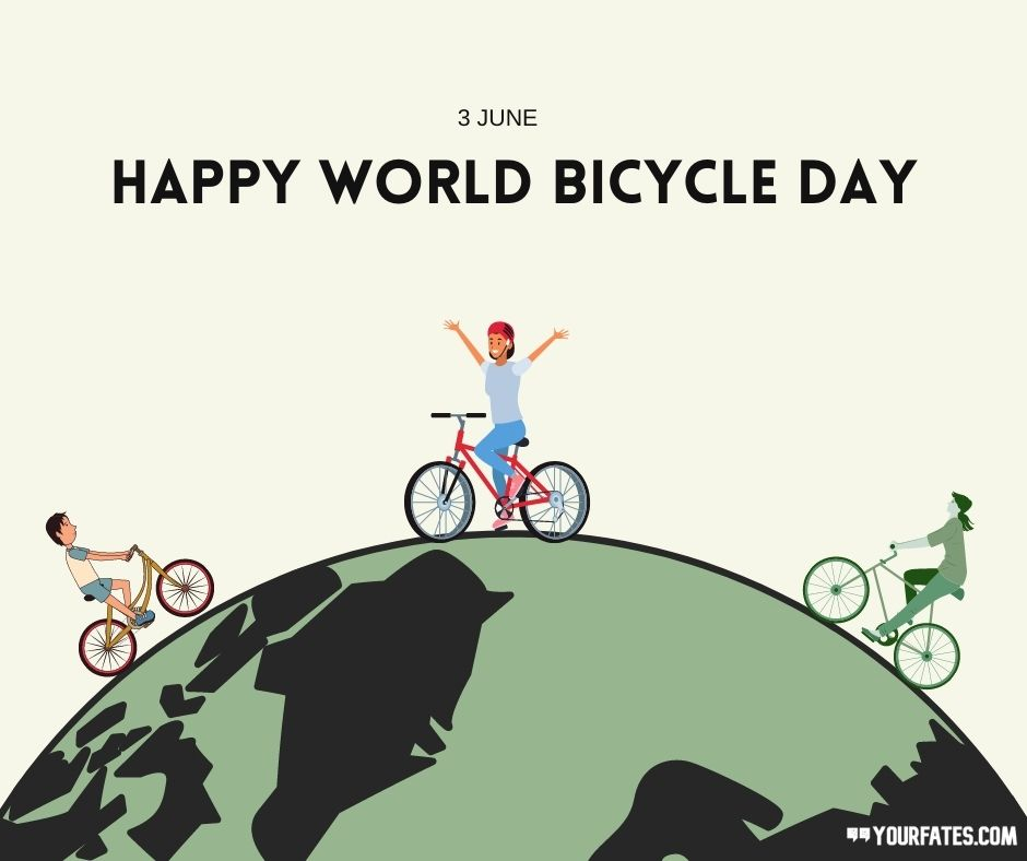 Happy World Bicycle Day Wishes Images