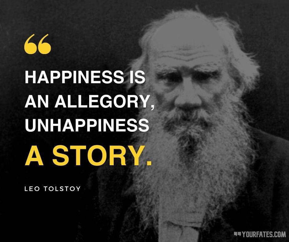 Leo Tolstoy Quotes on happiness