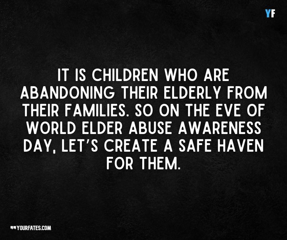 World Elder Abuse Awareness Day Message