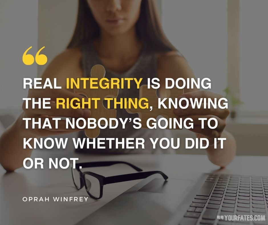 integrity quotes for work
