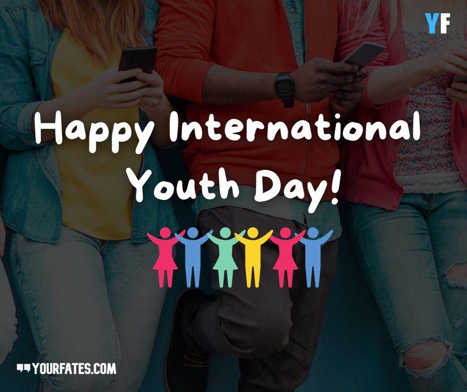 Happy International Youth Day Whatsapp Image