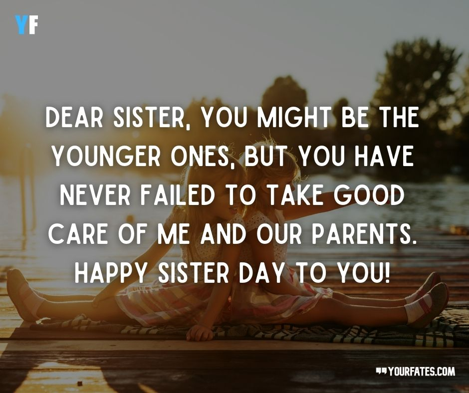 Sisters Day Wishes From Sister