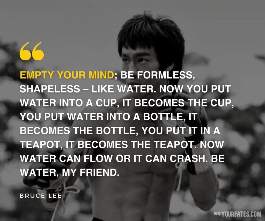 bruce lee quotes about water