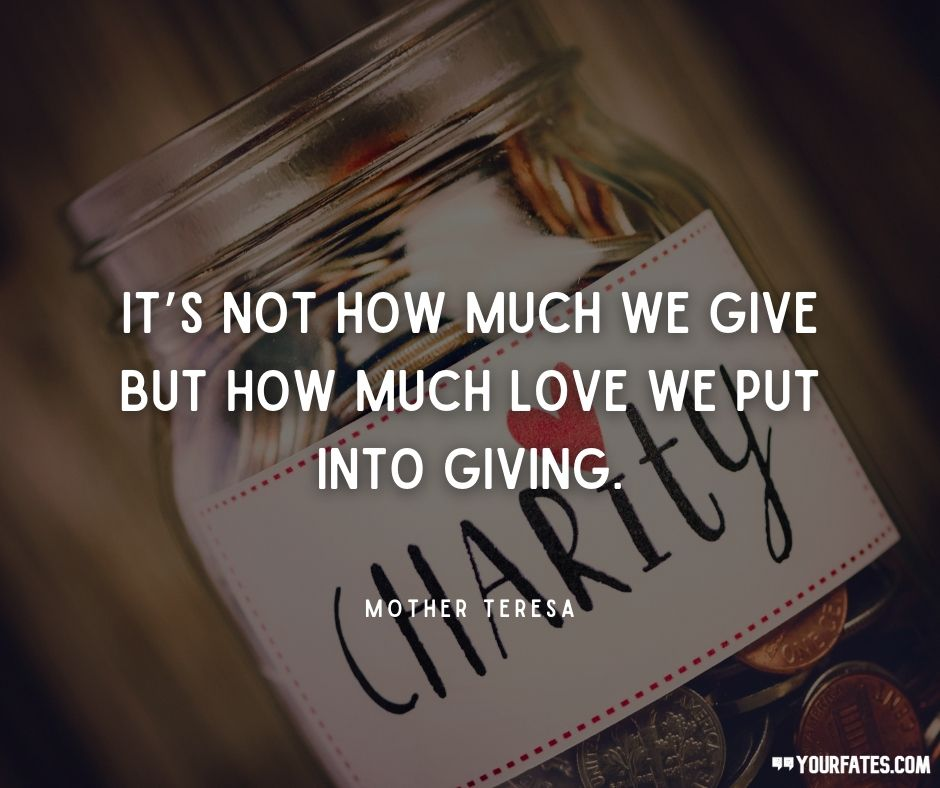 charity day quotes